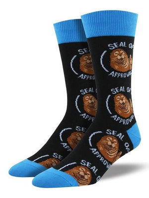 Black funny socks Seal of approval