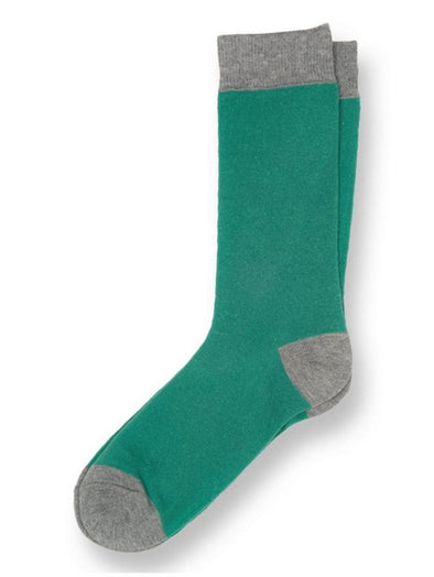 Solid Forest Green Socks.