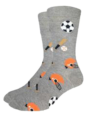 Gray socks for men with sport inventory