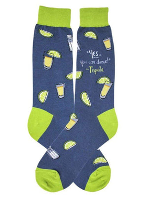 Blue funny tequila socks