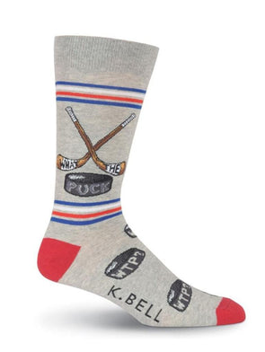 What The Puck Crew Socks.