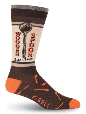 Here comes mom wooden spoon socks.