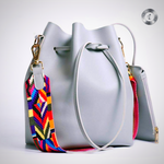 Eldorado Price DAUNAVIA Women bag with Colorful Strap Bucket Bag Women PU Leather Shoulder Bags Brand Designer Ladies Crossbody messenger Bags
