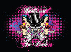 Addicted to Iron Top hat Muscle T - Black - Iron Addiction