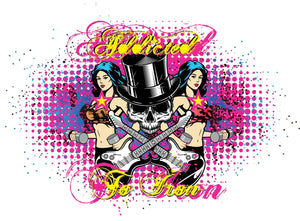 Addicted to Iron Top hat Muscle T - White - Iron Addiction