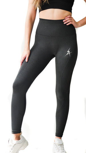 Grey Seamless Leggings - Iron Addiction