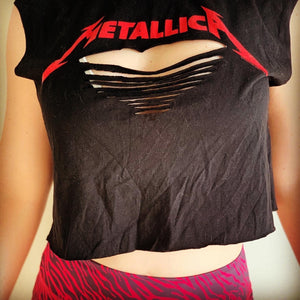 Metallica Custom Crop - Iron Addiction
