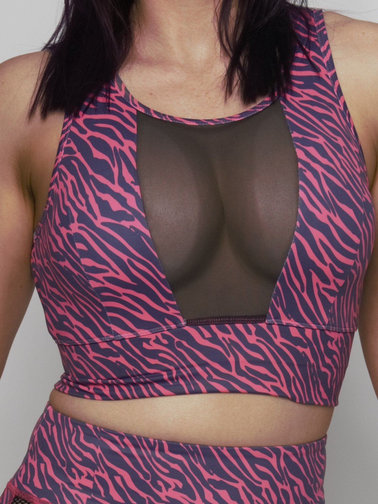 Pink Tiger Mesh Crop - Iron Addiction