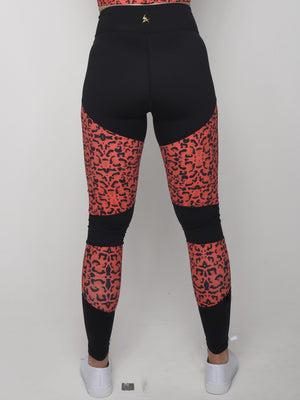 Red Leopard Leggings - Iron Addiction