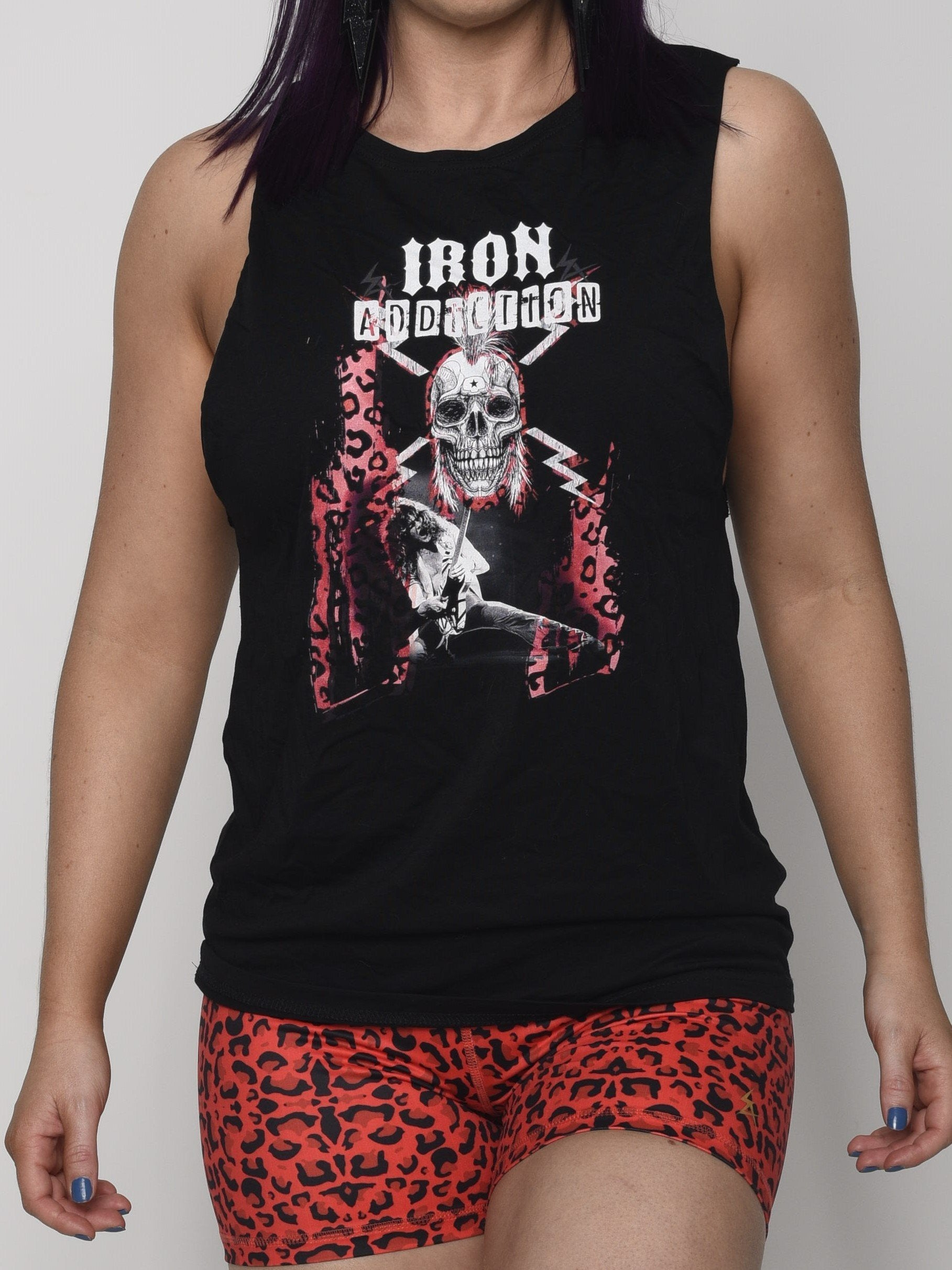 Red Leopard Muscle Tee - Iron Addiction