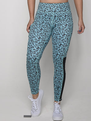Teal Leopard Leggings - Iron Addiction