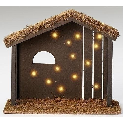 "12""H Lighted Starry Night Stable - Fontanini® 7.5"" Collection"