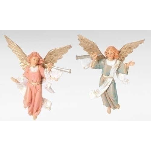 "Trumpeting Angels, Set of 2 - Fontanini® 5"" Collection"