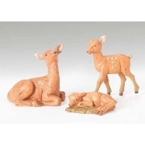 "Deer Family, Set of 3 - Fontanini® 5"" Collection"