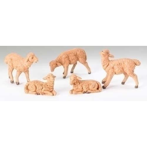 "Brown Sheep, Set of 5 - Fontanini® 5"" Collection"