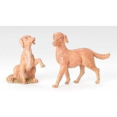 "Dogs, Set of 2 - Fontanini® 12"" Collection"