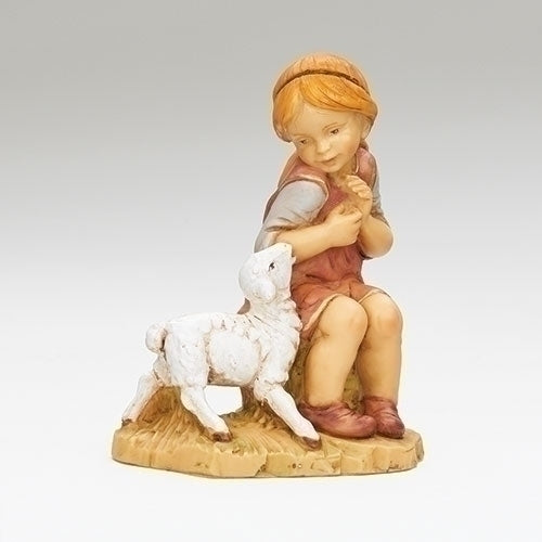 "Beth, Sitting Girl - Fontanini® 12"" Collection"