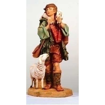 "Gabriel, Shepherd with Sheep - Fontanini® 27"" Collection"