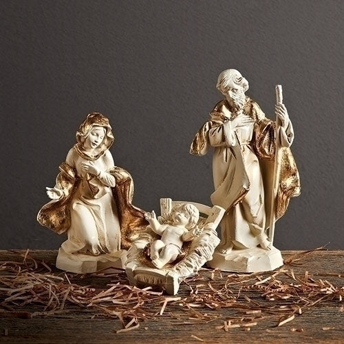 "Golden Edition Holy Family, Set of 3 - Fontanini® 5"" Collection"