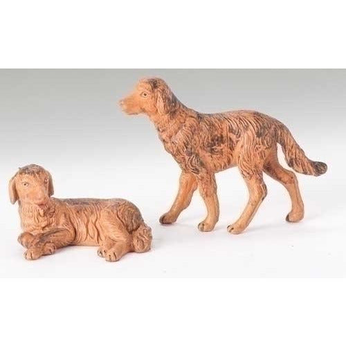 "Dogs, Set of 2 - Fontanini® 5"" Collection"