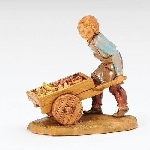"Hugo, Boy with Cart - Fontanini® 5"" Collection"
