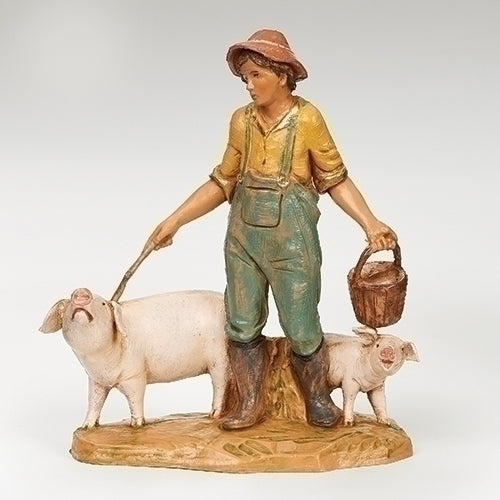 "Jebediah, the Pig Herdsman - Fontanini® 5"" Collection"