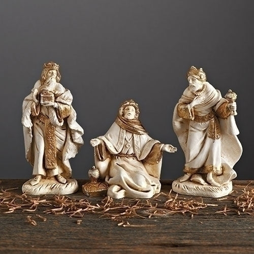 "Golden Edition Three Kings, Set of 3 - Fontanini® 5"" Collection"