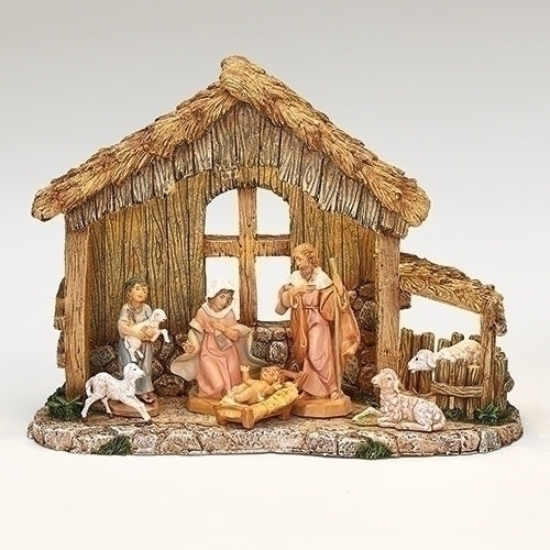7 Piece Piece Nativity Set for 5 Inch Scale - Lighted with Adaptor Set (Sold Alone)
