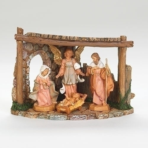 "4 Piece Corner Nativity Set with Stable - Fontanini® 5"" Collection"