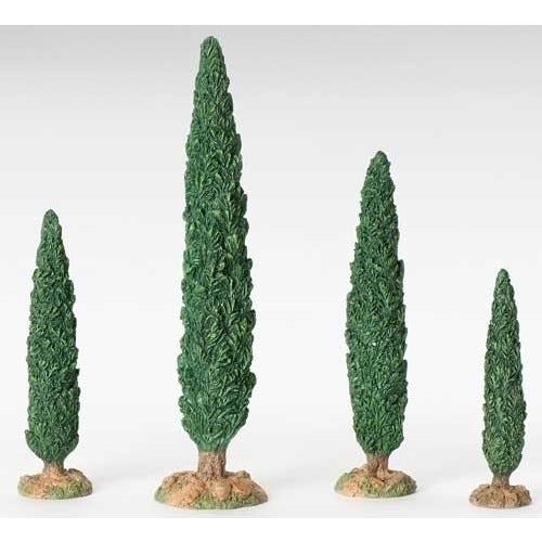 "Cypress Tree, Set of 4 - Fontanini® 5"" Collection"