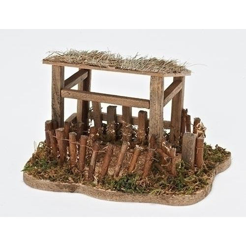 "Wooden Sheep Shelter - Fontanini® 5"" Collection"