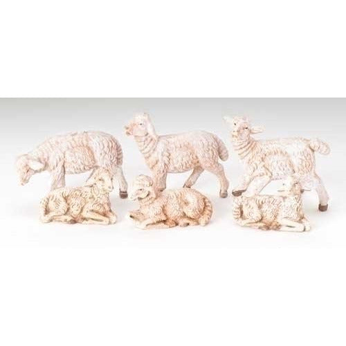 "Sheep, Set of 6 - Fontanini® 3.5"" Collection"