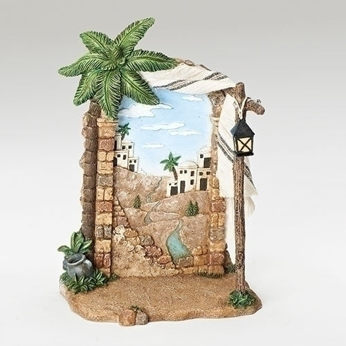 "Shepherd's Tent With Bethlehem Scene - Fontanini® 5"" Collection"