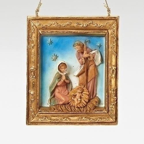 Holy Family Gold Framed Ornament - Fontanini® Ornaments & Gifts Collection