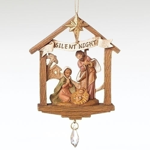 Silent Night Holy Family Ornament - Fontanini® Ornaments