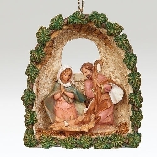 Ivy Grotto Holy Family Ornament by Fontanini