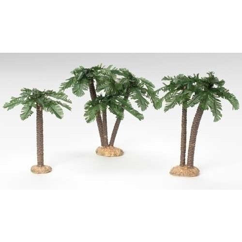 "Date Multi-Trunk Palm Trees, Set of 3 - Fontanini® 5"" Collection"