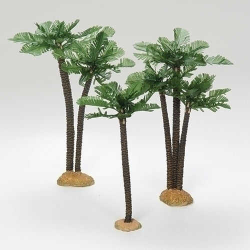 "Palm Trees, Set of 3 - Fontanini® 7.5"" Collection"