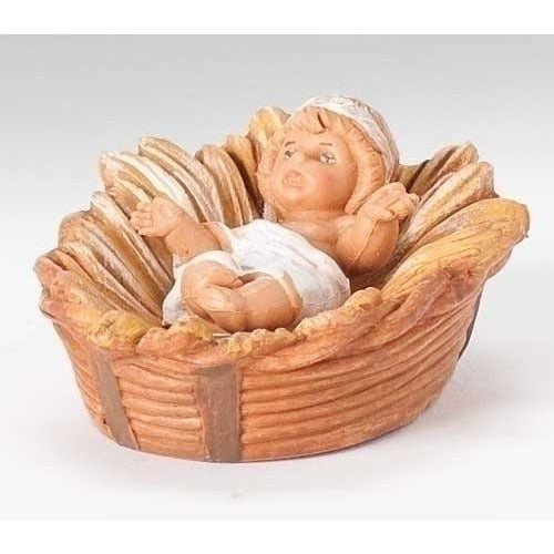 "Centennial Baby Jesus With Manger (2 Pcs) - Fontanini® 5"" Collection"