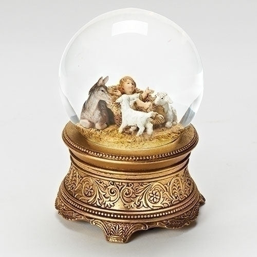 Baby Jesus with Animals Scene Glitterdome® - Fontanini®