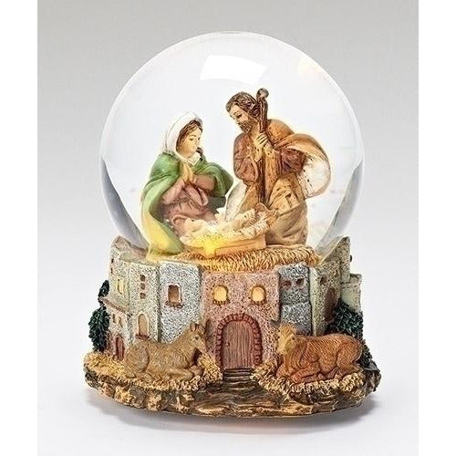 Holy Family Lighted Village Glitterdome® - Fontanini®