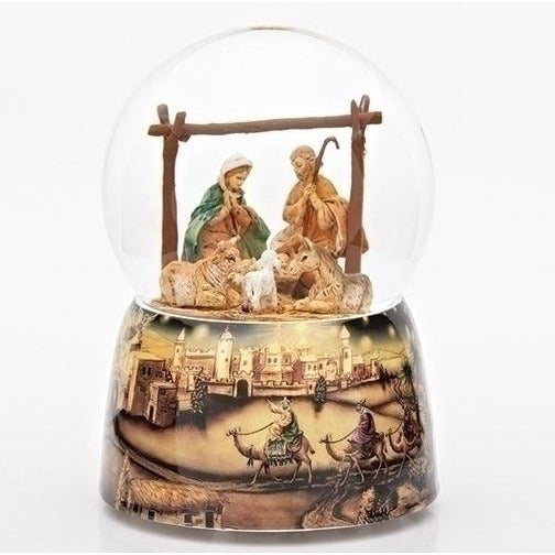 Holy Family with Magi Scene Musical Glitterdome® - Fontanini®