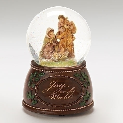 "Holy Family Scene ""Joy To The World"" Glitterdome® - Fontanini®"