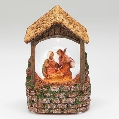 Lighted Musical Cobblestone Fontanini® Holy Family Glitterdome®