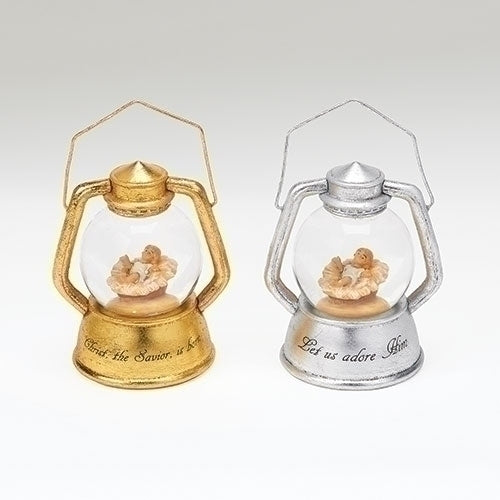 Set/2 Babe Lantern Ornaments by Fontanini