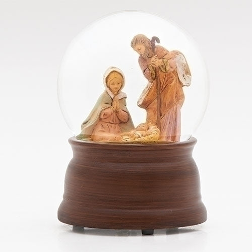 Brown Base Holy Family Musical Glitterdome - Fontanini® Collection