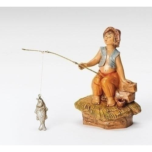"Jada, Boy Fishing - Fontanini® 5"" Collection"