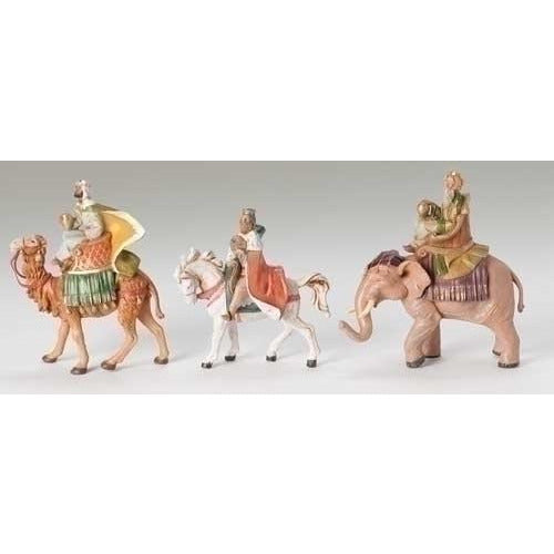 "Three Kings on Animals, Set of 3 - Fontanini® 5"" Collection"