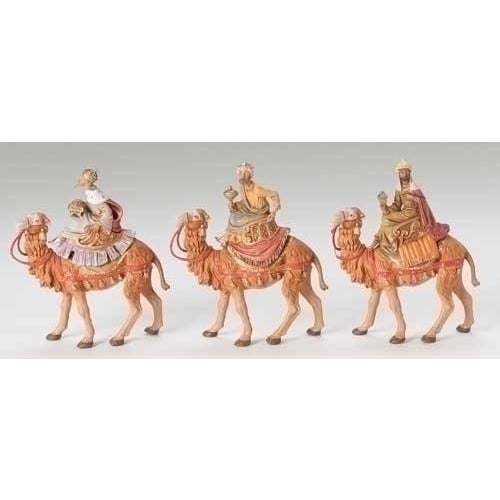 "Three Kings on Camels, Set of 3 - Fontanini® 5"" Collection"