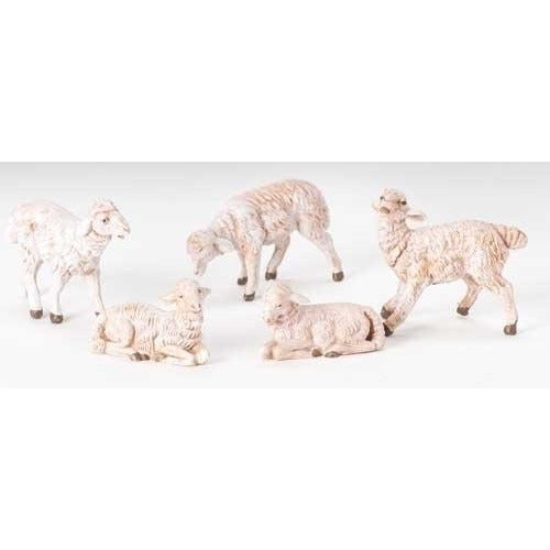 "White Sheep, Set of 5 - Fontanini® 5"" Collection"